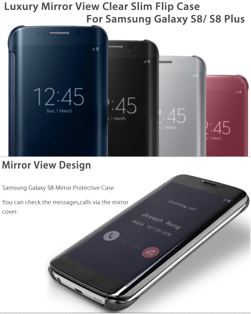 clear view cover s8 de samsung