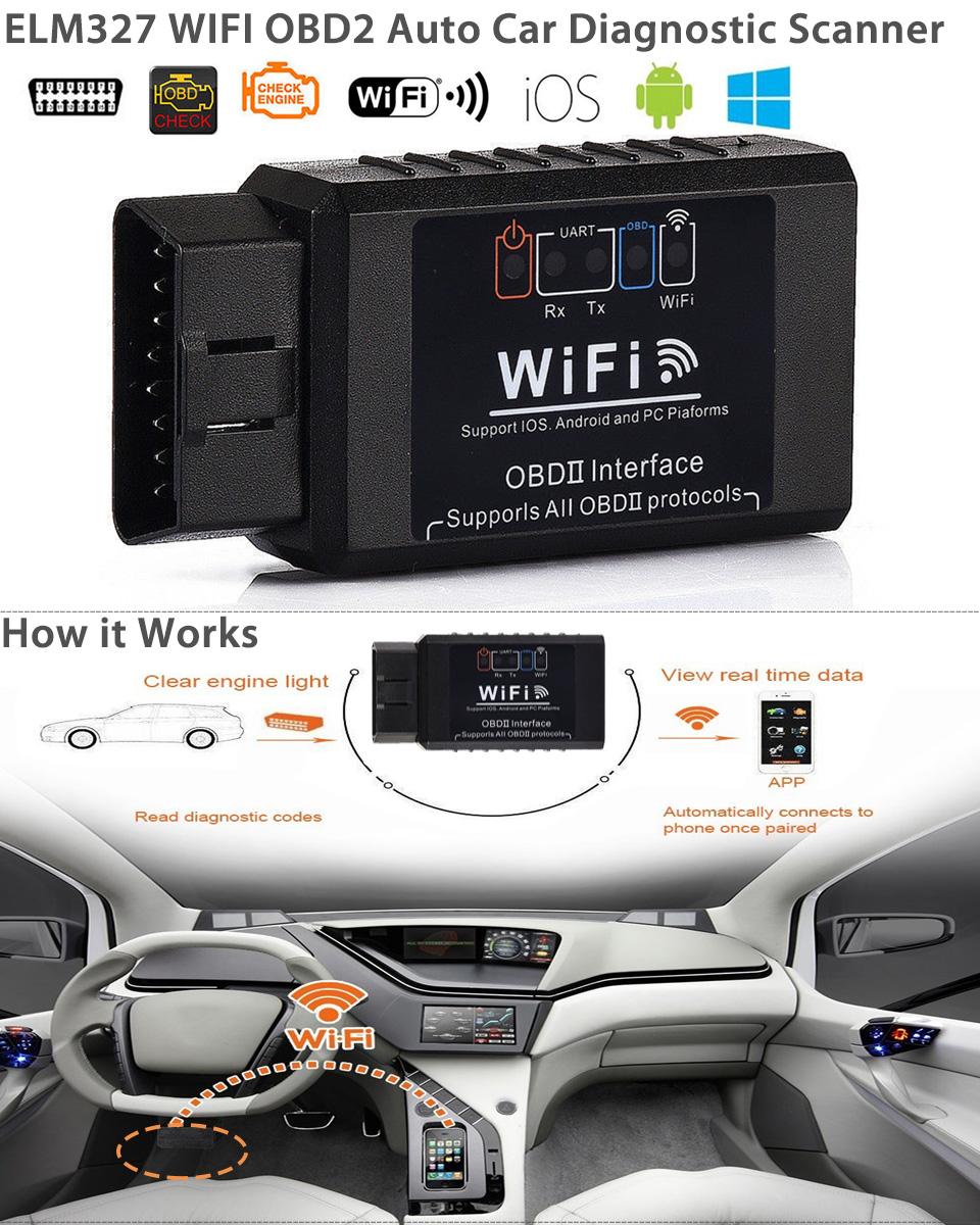 elm327 wifi obd2 obdii auto car diagnostic scan tool. Black Bedroom Furniture Sets. Home Design Ideas