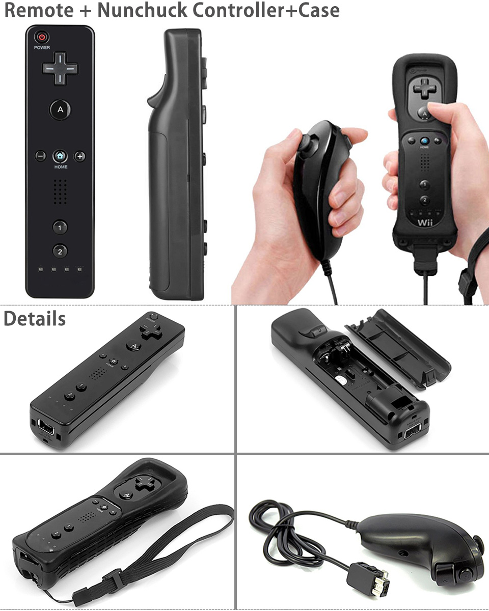 Controller Set for Nintendo Wii Game+ Case